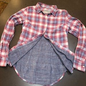 Plaid Button Down with lining